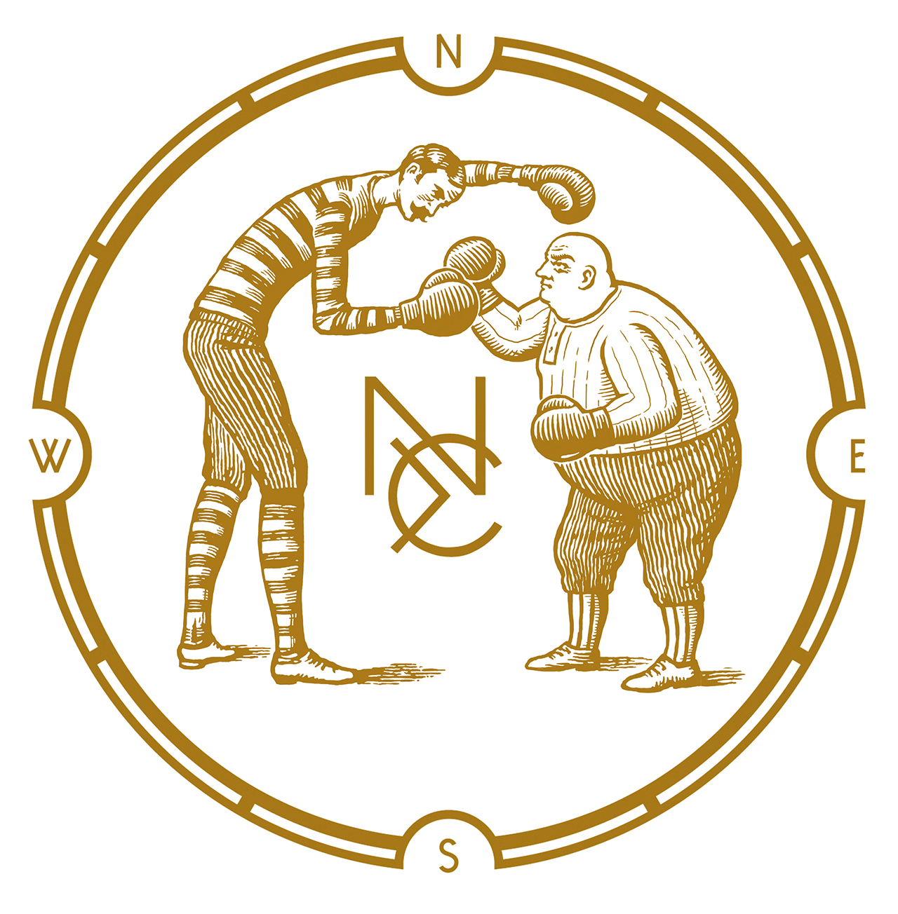 logo, boxing, woodcut