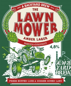 Illustration for a label Lawn Mover bear