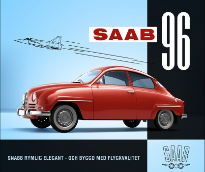 SAAB 96 1968 v4 box design retopo 3d model of red car from the 60's bil