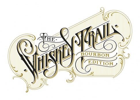 the whiskey trail logotype schmetzer hand lettering