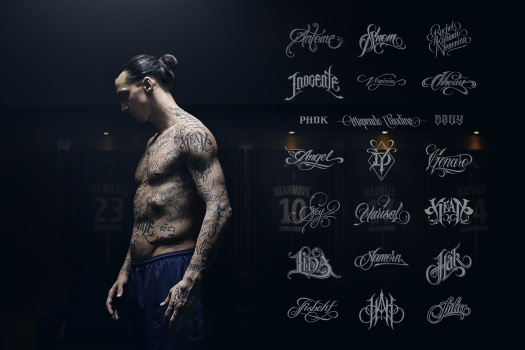 Zlatan tattoos wfp 805 million names